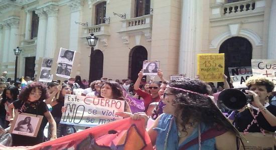 Marcha del movimiento feminista