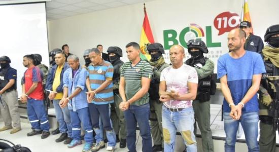 El ministro de Gobierno de facto en Bolivia, Arturo Murillo, acusó a nueve venezolanos de sedición